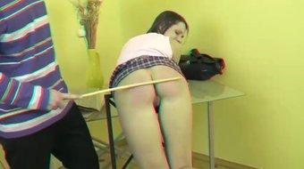 Teen Spanked with Cane in 3D maturewifehub