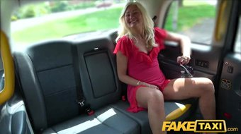 Fake Taxi Sexy Mature British Ellens juicy tight pussy fucked in cab