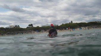 Chrissi nude swimming in Mallorca