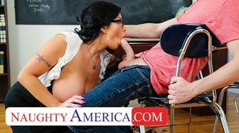 naughty america - professor miller teaches student how to quickie