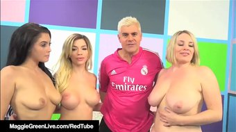 Fuck Foursome With Maggie Green Noelle Easton & Bibi Noel!