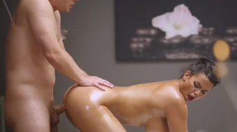 Massage Rooms Busty Slovakian beauty Chloe Lamour in oiled up ecstasy