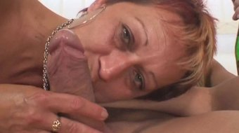two buddy fuck her hot mom from both ends
