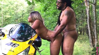 nina rivera slammed outside on motorcycle subscribe now!!