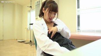 Japanese school nurse masturbates at work - bit .ly/PornSmartLink