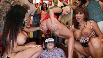 BANGBROS - Lucky Frat Boys Fuck Party Crashing Pornstars In Their Dorms