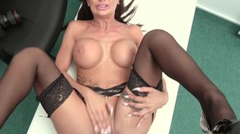 Fake Agent Princess Jas gets her tight pussy fucked in a hot casting