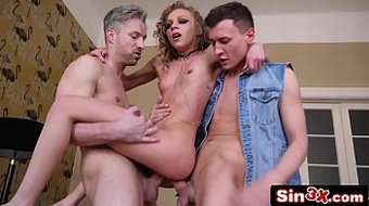 Petite French Babe In Double Vag and DP Foursome - Angel Emily