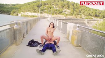 LETSDOEIT - Horny Brunette Teen Picked Up And Fucked In Public