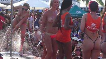 dantes pool fuck party at fantasy fest key west florida