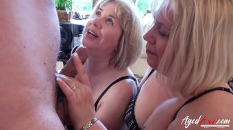 AgedLovE Three Mature Ladies Occupying One Cock