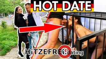 HITZEFREI.dating PUBLIC BLOWJOB German Teen hooked up on street LULLU GUN