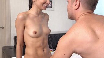 Tricky-Masseur -Polina Sweet- Oiled babe orgasms on table