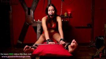 Foot torture bondage girl