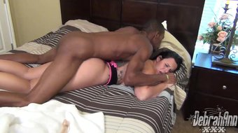 Brunette squirts then pounded by BBC