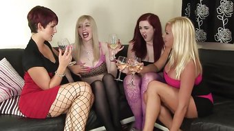 4 girl lez orgy