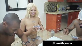 Ebony Babe Destiny Dream Gets 2 Big Black Cocks & Their Cum!
