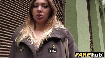 Public Agent Hot model prospect fucked underground