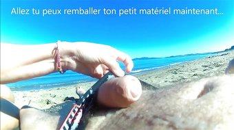 Branlette sur la plage