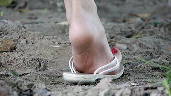 Feet 004 - Flip Flop Flapped Down