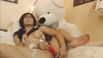 Hot Asian Enjoying Toys at her Holes