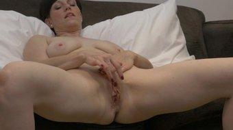 Horny MILF Masturbating Fleshy Pussy to Multiple Orgasms