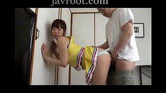 Rubbing daughter ass