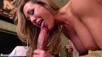 Sexy blonde Brandi Love fucking