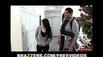 Bad chick Tiffany T fucks the school janitor in front of her man