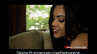 Petite Latina spreads her pink wet lips and takes it deep