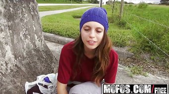 Mofos - Pervs On Patrol - Jade Nile - Bouncy Tit Teen Picked