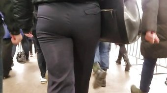 Young policewoman's ass