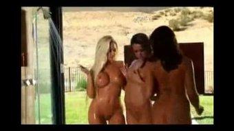 Wet lesbians outdoor