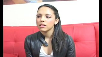Sexy Latina Teen exposed first time