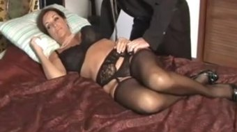 Brunette MILF gets drilled by a hung young dude