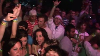 hot slutty girls flashing tits during huge club party with mtv djs and behind the scenes bts