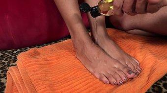 Anya Ivy Has Feet Worshipped and Gives a Sensual Footjob