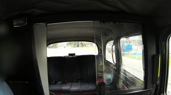 Busty blonde gets anal in British fake taxi