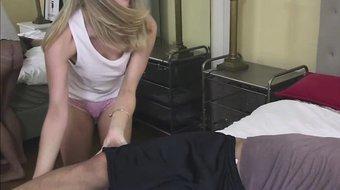 Allie Rae gets petite pussy fuck