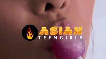 Asian Girl Blows a Lucky Guy