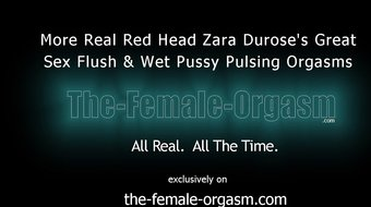 Firebush Redhead Masturbates Clit to Pussy Orgasm