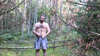 Bear Jerking Outside