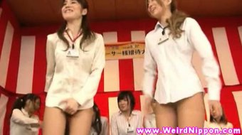 Asian babes game were loser gets orgasm