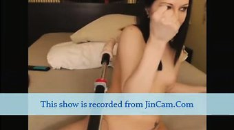 Live camgirl fuck with sex machine hot show