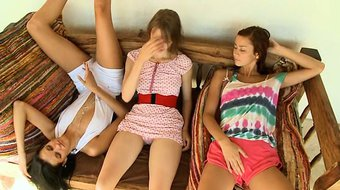 Three american teenagers masturbating