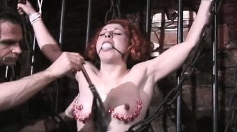 Weird redhead Jayne gets tied and ass part6