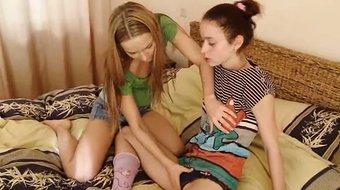 Her first licking of schoolgirl
