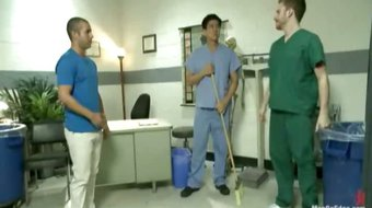 Two perverts edge and tease Carter West on an examination