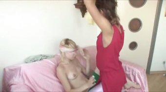 Natasha and Alice using strapon for bang