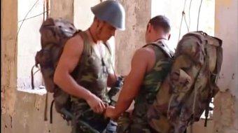 Macho Gay Soldiers Having Anal Sex